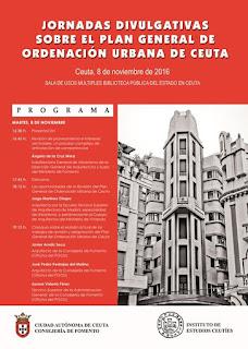 Programa Jornadas PGOU Ceuta 2016