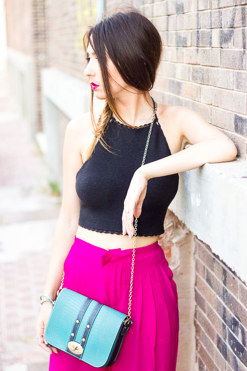halter crochet top