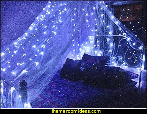 Mosquito Net Round Canopy De-Luxe   Celestial Themed sun moon stars and clouds decor Bed canopy -  Bed Canopies - Bed Crown - Mosquito Netting - Bed Tents - Canopy Beds - Post Bed Canopies - Luxury Canopy netting   - girls bed canopy - Bed Curtains - Curtain Canopy - Canopy Play Tent - Princess canopy - moon stars canopy -