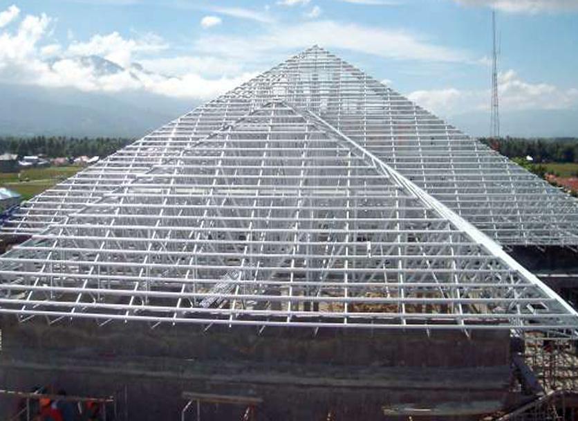 Rangka Atap Baja Ringan Model Limas Desain Bentuk Update Terbaru