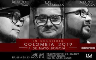 Concierto Alberto Garza, Luis Odriozola y más en Bogotá