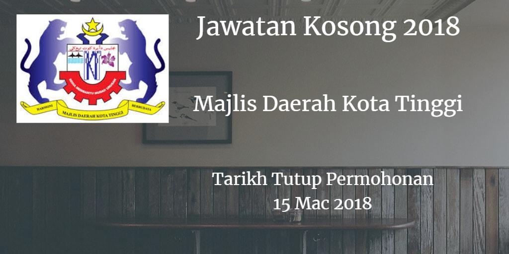 Jawatan Kosong MDKT 15 Mac 2018