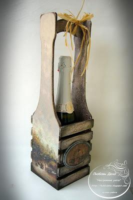 короб для вина в подарок, винная тематика