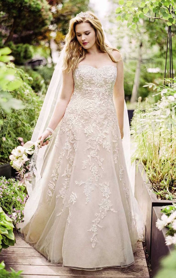 Vestido de novia para gordita beige