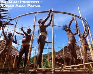 Desain Bentuk Rumah Adat Ebei dan Penjelasannya, Rumah Adat Honai, Papua