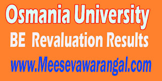 Osmania University BE 4th Year 2nd Sem May 2016 Revaluation Results