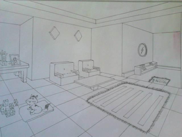 Gambar Ruang Tamu Dengan 2 Ik Hilang