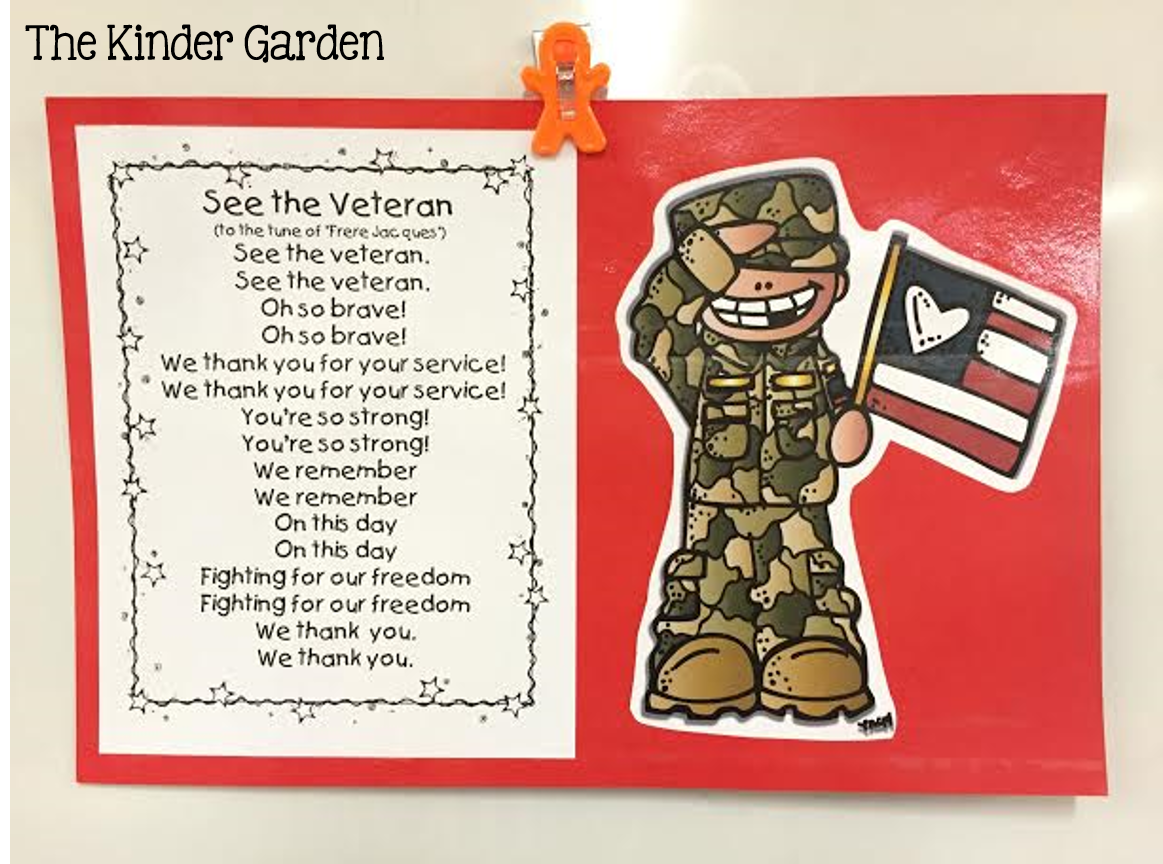 The Kinder Garden Veterans Day Activities