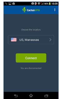 terhubung ke Cactus VPN