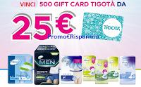 Logo Concorso ''Compra e vinci con Tena 2019'' ben 500 Card Tigotà da 25€
