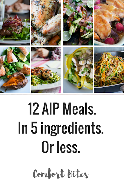 Meals from the autoimmune protocol with just 5 ingredients or less each