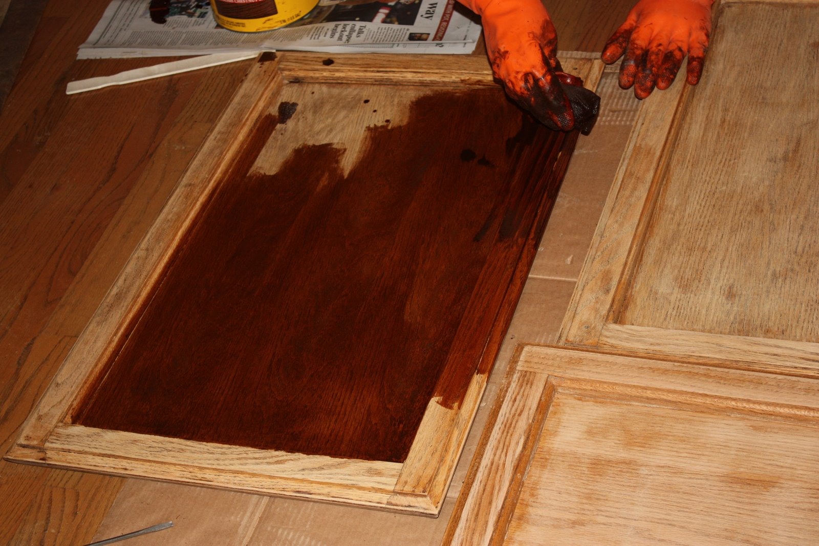 Sanding, Staining, And Varathane  Home Is Where My Story