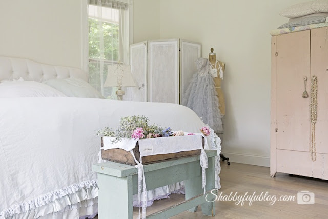 ruffled bed shabby chic couture