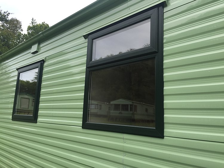 Static caravan double glazing windows and doors for Replacement upvc windows
