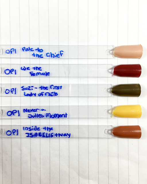 Tori's Pretty Things// OPI Washington DC Collection Swatches
