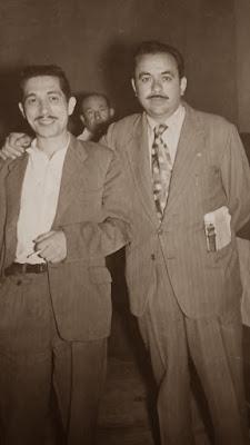 Estanislau Puig con su amigo Alejandro Beltrán Tassis