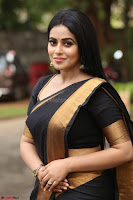 Poorna in Cute Backless Choli Saree Stunning Beauty at Avantika Movie platinum Disc Function ~  Exclusive 079.JPG