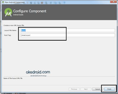 Configure Component Android Studio