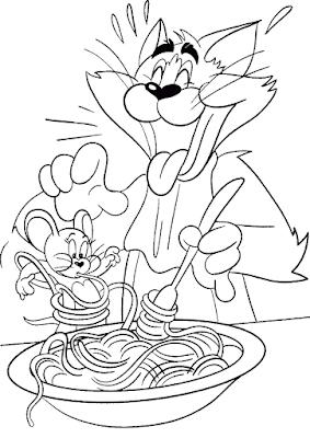 Gambar Mewarnai Tom and Jerry - 4