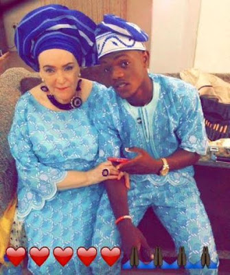 Young Nigerian man celebrates his elderly American wife on her birthday