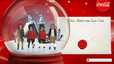 Cartão de natal interativo da Coca-cola