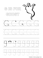 Alphabet Tracer Pages G Ghost