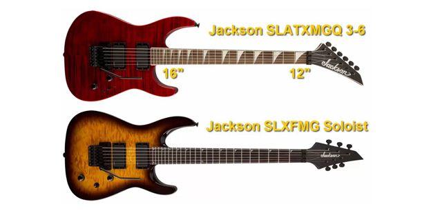 Guitarras Eléctricas con Radio Mixto de Curvatura del Diapasón