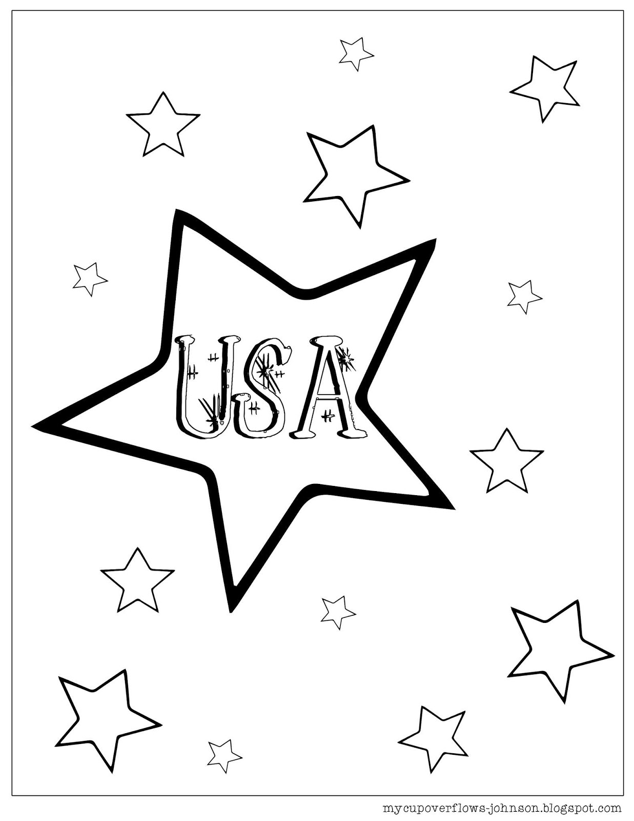 My Cup Overflows Coloring Pages For The 4th Of July