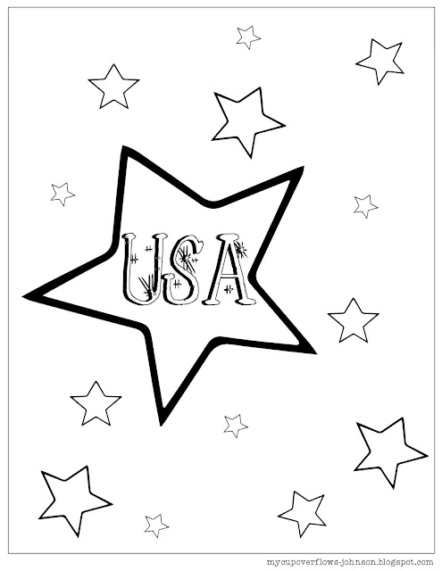 My Cup Overflows: Coloring Pages for the 4th of July