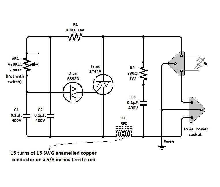 automatic lamp dimmer circuit electronics projects