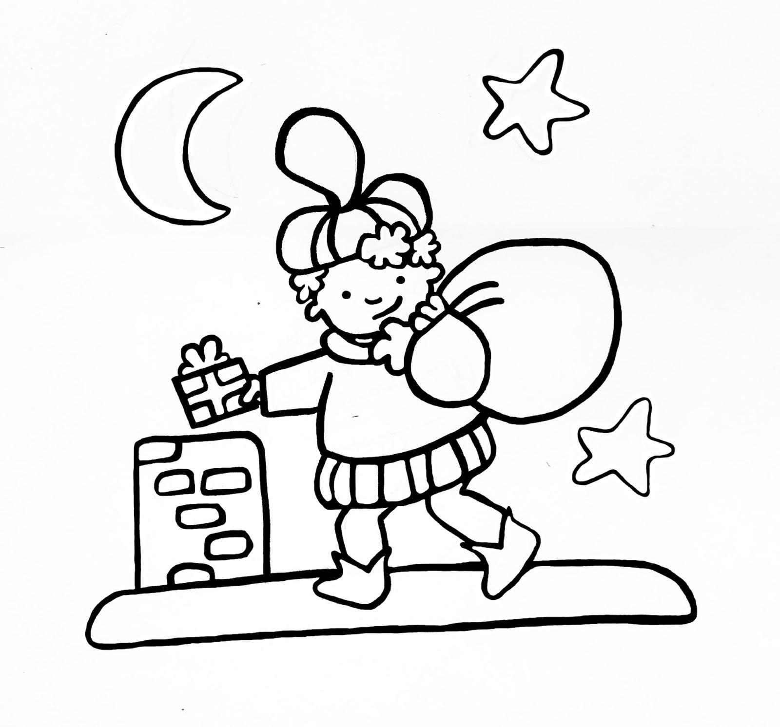 Kleurplaten Van Sinterklaas En De Pieten.Sinterklaas Kleurplaat Zwarte Piet