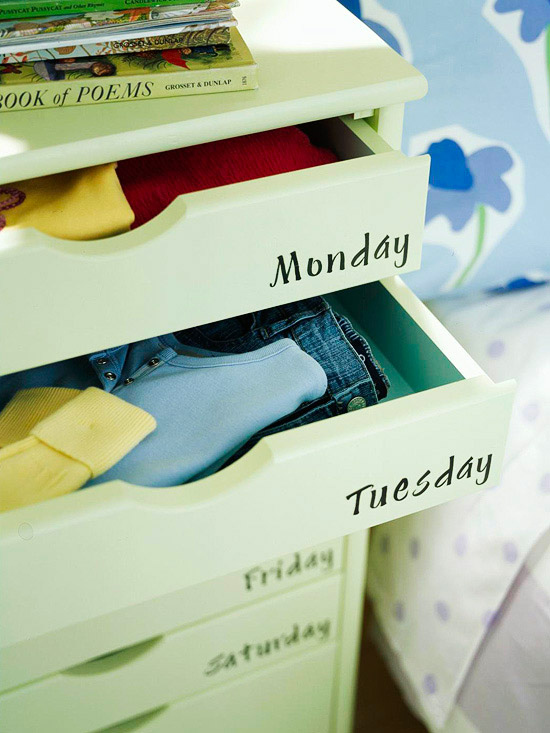 Named drawers will truly remove the bother of getting wearing the morning! Home Decor
