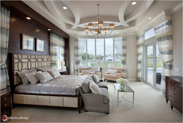 Gypsum Bedroom Designs 9