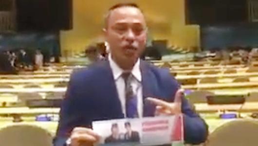 Viral, Video Dukungan dari Markas PBB untuk Prabowo