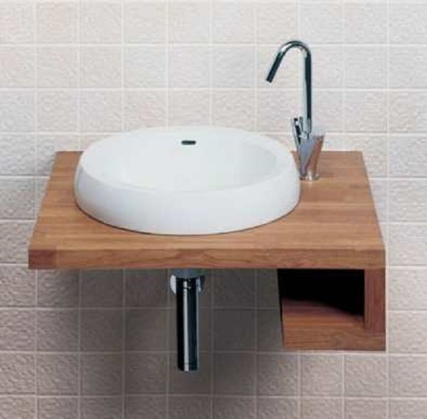 small wall mounted corner sink for bathroom