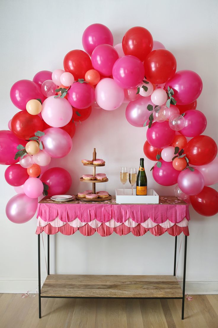 Beautiful DIY Balloon arch by A Beautiful Mess