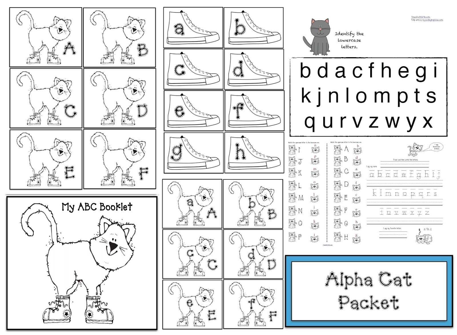Alpha Cat Packet With Alphabet Activities & Games