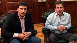 El Intendente Galli junto a Cristian Ritondo. Foto: Gza Infoolavarria