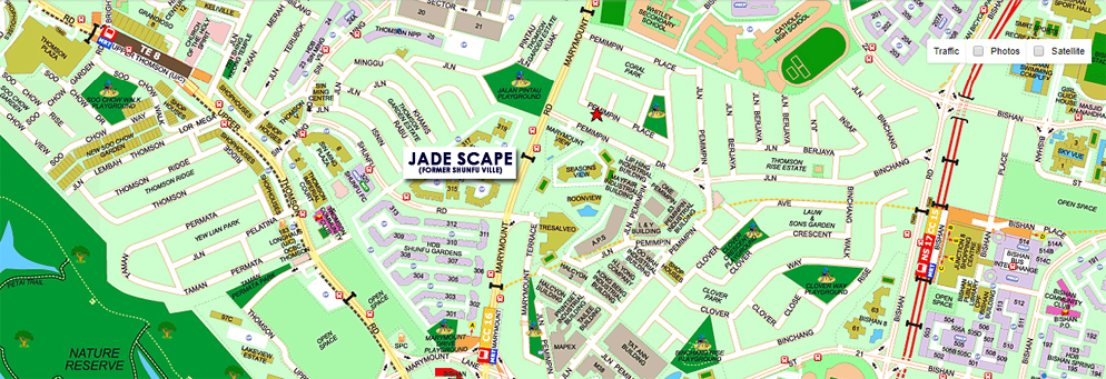 Jade Scape Location Map