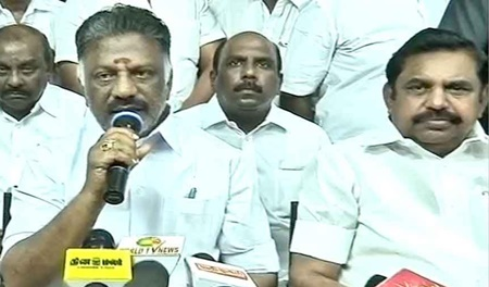 EPS & OPS Together Press Meet At AIADMK Headquarter Office