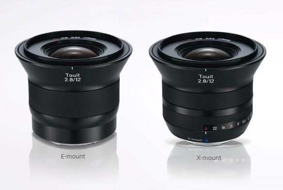 Fotografia dello Zeiss Touit 12mm f/1.2 per innesto Sony E e Fuji X