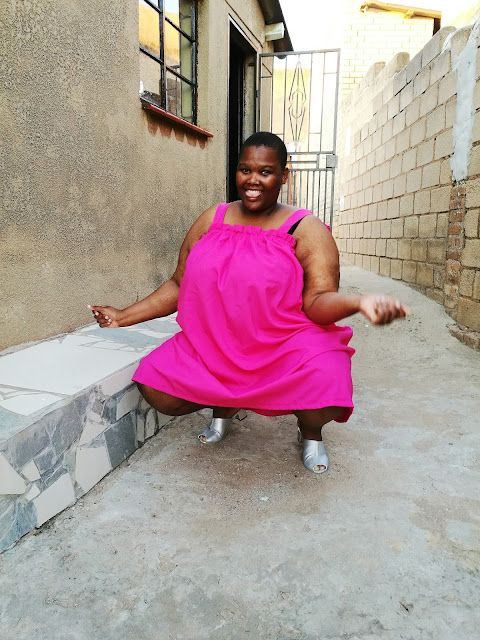 south african plus size blogger, bright plus size look