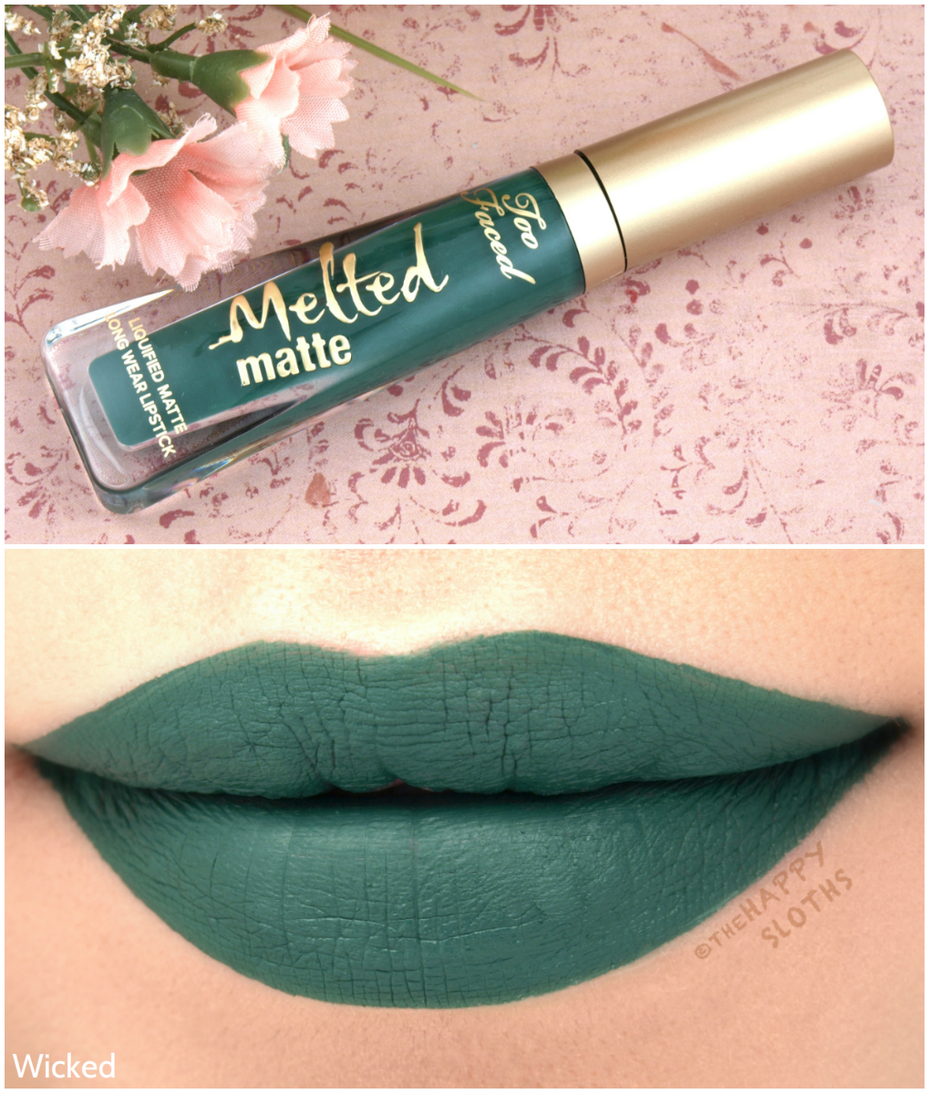 "Too Faced Melted Matte Liquified Matte in ""Wicked"": Review and Swatches"