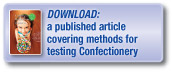 Download a published article covering methods for the testing of confectionery