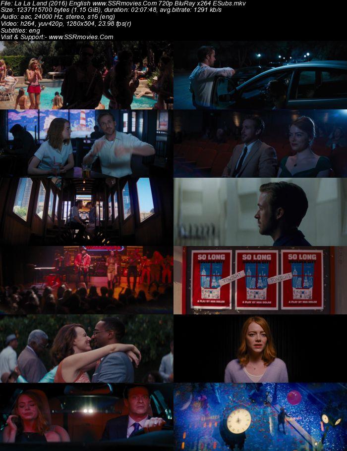 La La Land (2016) English 720p BluRay x264 1.2GB ESubs Movie Download