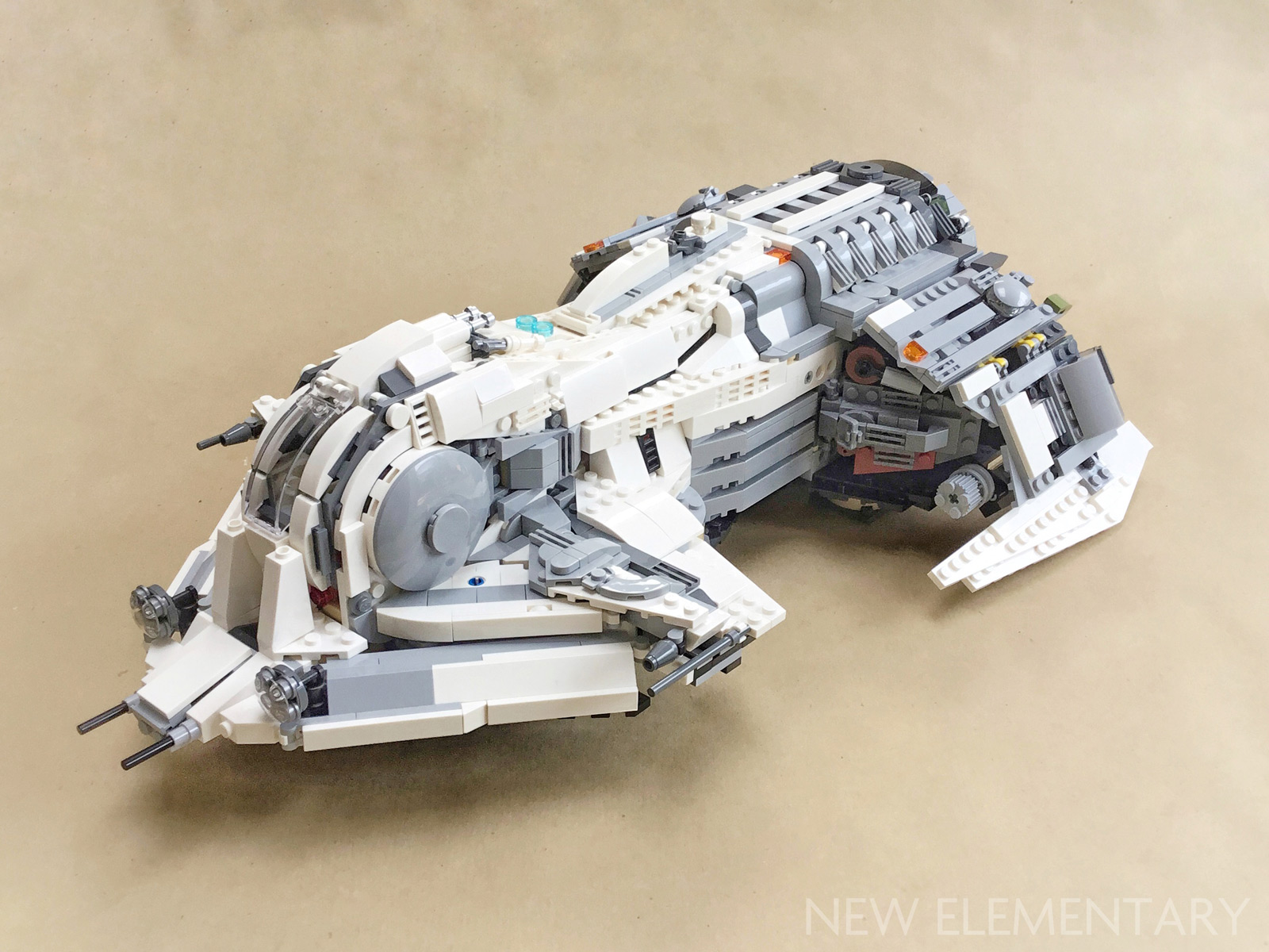 Alt Star Wars: Kev Levell's mothership and fighter   New Elementary