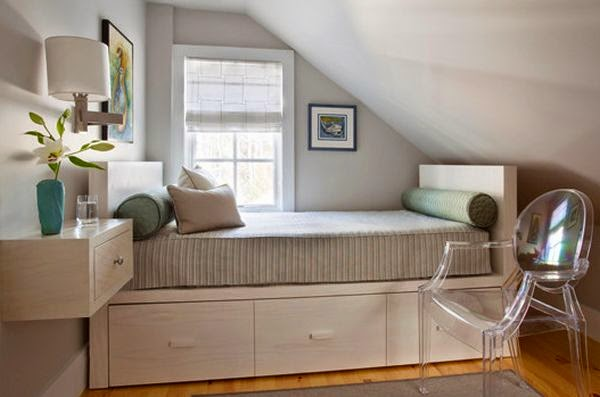 26 Desain Kamar Tidur Sempit Minimalis Sederhana 2019