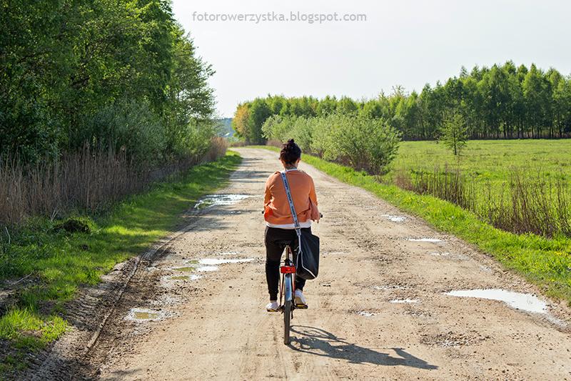 Nagoszyn,podkarpacie,szutrowa droga,rower