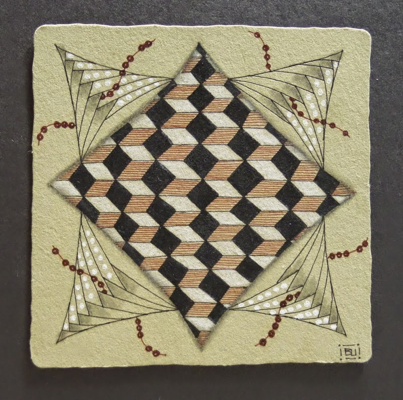 Tickled To Tangle Quot It S A String Thing Quot 40 Tiles