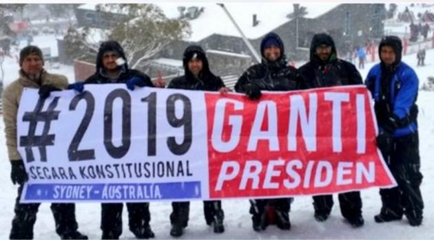Gerakan #2019GantiPresiden Meluas ke Internasional, Lihat Foto-fotonya